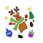 Karácsonyi rénszarvas zselés ablakdísz szett