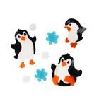 3 táncoló pingvin zselés ablakdísz szett