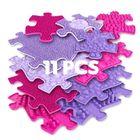 Muffik: Szenzoros ortopédiai szőnyeg szett, lila-rózsaszín - 11 db-os