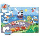 Dodo: Vehicule pe malul mării - puzzle cu 18 piese cu elemente detașabile