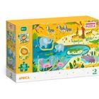 Dodo: Africa - puzzle cu 18 piese cu elemente detașabile