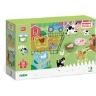 Dodo: Farm puzzle kivehető elemekkel - 18 darabos
