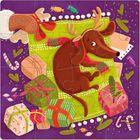 Dodo: Cățeluș de crăciun - puzzle cu 16 piese