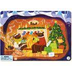 Dodo: Karácsonyi mackócsalád keretes puzzle - 53 darabos