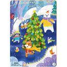 Dodo: Animalele la patinaj - puzzle cu 53 piese, cu cadru