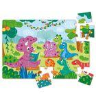 Dodo: Dínó barátok mini puzzle - 35 darabos