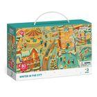 Dodo: Figyeld meg! Tél a városban puzzle - 80 darabos