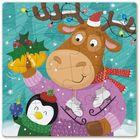 Dodo: Puzzle de colorat 2-în-1, 16 piese - Ren și pinguin de crăciun
