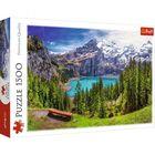 Trefl: Oeschinen-tó, Alpok, Svájc - 1500 darabos puzzle - CSOMAGOLÁSSÉRÜLT