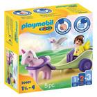 Playmobil 1.2.3: Egyszarvú hintó tündérrel 70401
