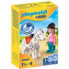 Playmobil 1.2.3: Lovasnő lóval 70404