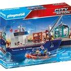 Playmobil: Navă de marfă cu barcă - 70769