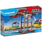 Playmobil: Macara de marfă cu container - 70770
