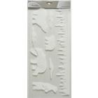 Fehér színű karácsonyi ablakmatrica csomag - jegesmedve