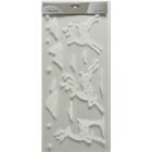 Fehér színű karácsonyi ablakmatrica csomag - rénszarvas