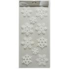 Fehér színű karácsonyi ablakmatrica csomag - hópelyhek