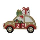 Autó formájú karácsonyváró naptár - hóember