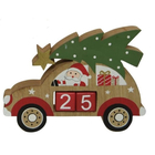 Autó formájú karácsonyváró naptár - Mikulás