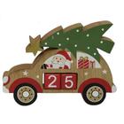 Calendar în așteptarea crăciunului - Mașină cu Moș Crăciun