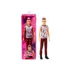 Barbie Fashionista: Barna hajú fiú baba kockás nadrágban