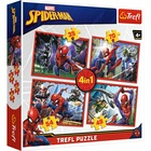 Trefl: Pókember hálójában 4 az 1-ben puzzle