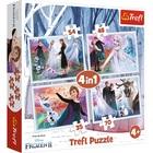 Trefl: Frozen 2, Pădurea magică - puzzle 4-în-1