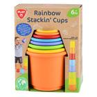 Playgo: Szivárvány rakosgató csészék újrahasznosított műanyagból - 8 db