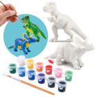 Playgo: Dinoszaurusz világ műgyanta festés - T-rex és Triceratopsz