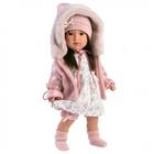 Llorens: Sofia kislány baba kapucnis pulóverben - 40 cm