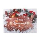 Karácsonyi hangulatkép, LED-es - Boldog karácsonyt! felirat