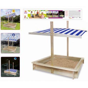Eichhorn: Cutie din lemn pentru nisip cu copertină