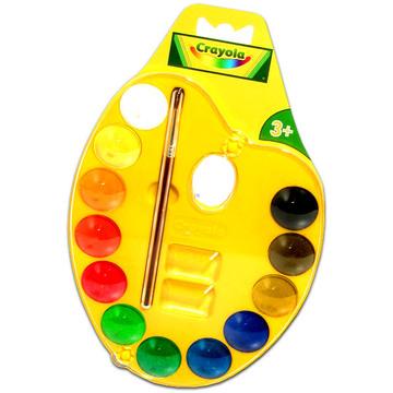 Crayola 12 db vízfesték palettán