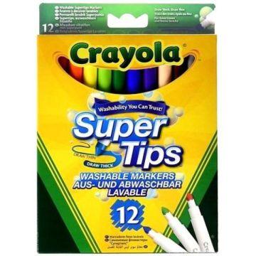 Crayola vékony filctoll, lemosható, 12 db