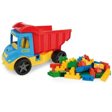 Wader: Multi Truck dömper építőkockákkal, 38 cm - 17 db-os - . kép