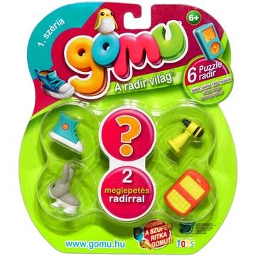 Gomu, a radír világ: 6 db-os puzzle radír - . kép