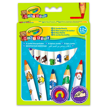 Színes ceruza óriás, állatfigurás, 8 db