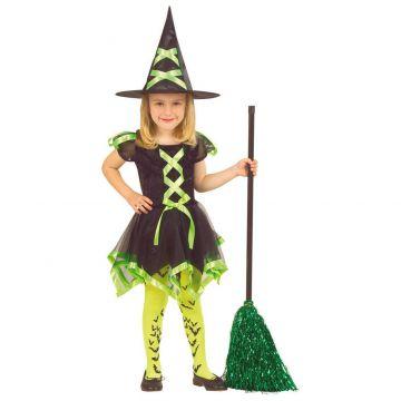 Zöld neon boszorkány jelmez - 110 cm-es méret