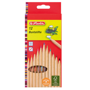 Herlitz színes ceruzák - 12 db - natúr