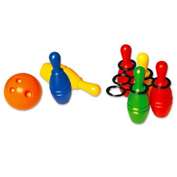 Set de bowling din material plastic cu 6 piese