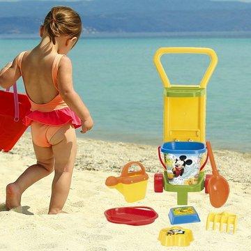 Wader: Mickey egér homokozó készlet kocsin - . kép