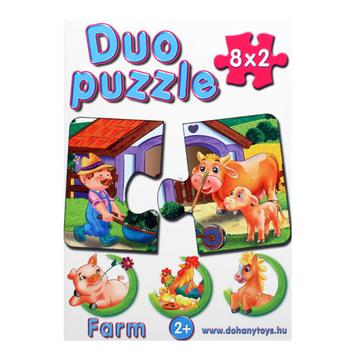Duo Puzzle 8 x 2 darabos - farm
