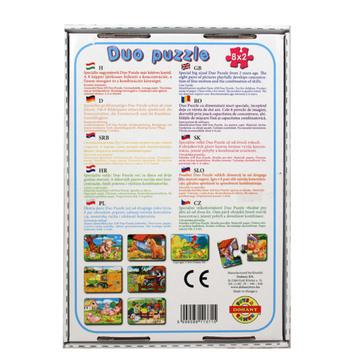Duo Puzzle 8 x 2 darabos - farm - . kép