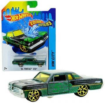 Hot Wheels City: Culori schimbătoare - Maşinuţă 64 Pontiac GTO