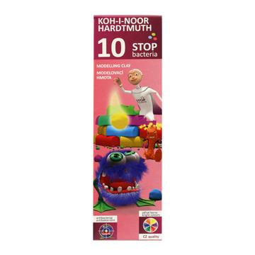 Koh-I-Noor Bacteria színes modellgyurma - 10 darabos, baktérium mentes