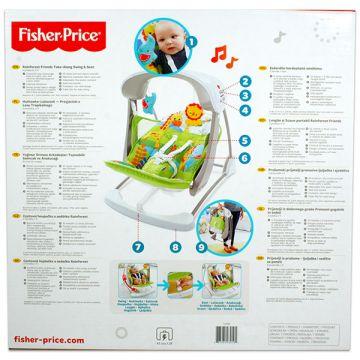 Fisher-Price: Esőerdős hordozható minihinta - . kép