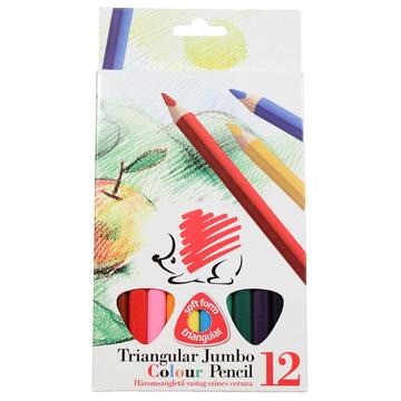 ICO 12 db-os háromszögletű vastag színes ceruza