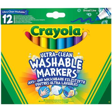 Crayola 12 db vastag extra kimosható filctoll