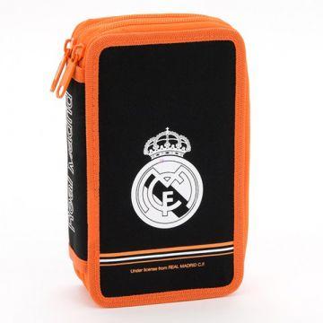 Real Madrid: két emeletes tolltartó - fekete