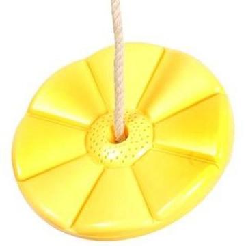 Sharky Virág tányérhinta kötéllel, karikával, sárga