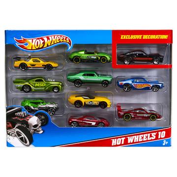Hot Wheels 10 darabos kisautó készlet